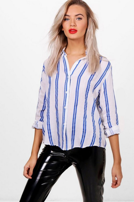 Mary Oversized Stripe Shirt