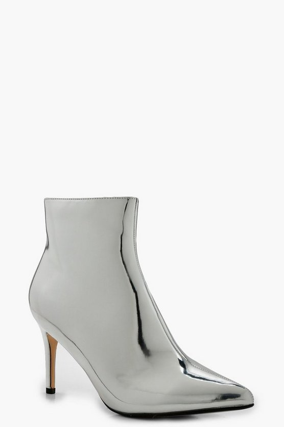 Megan Pointed Toe Metallic Shoe Boots