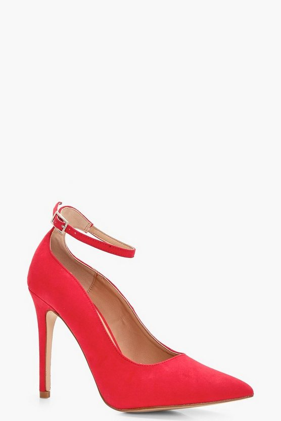 Lucy Pointed Toe Ankle Band Court