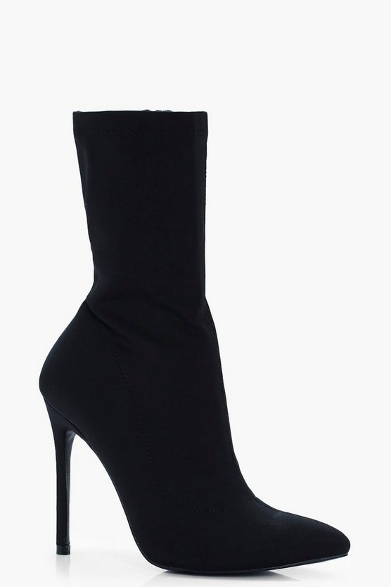 Issy Stretch Over Ankle Sock Boots