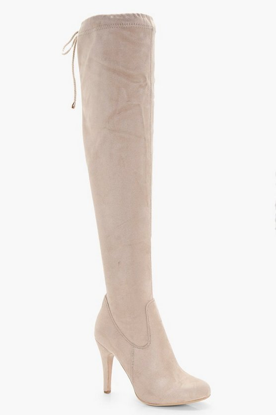 Olivia Tie Back Over the Knee Boot