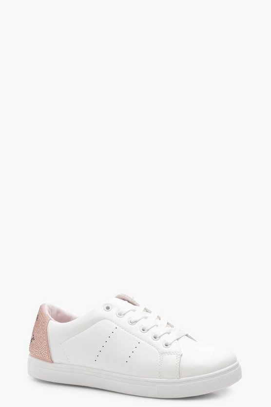 Madeleine Wink Face Diamante Trainers