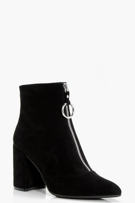 Tegan Oversized O-Ring Cylinder Heel Boots