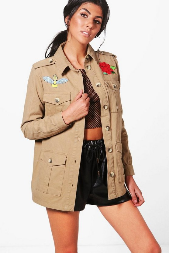 Kaya Embroidered Utility Jacket