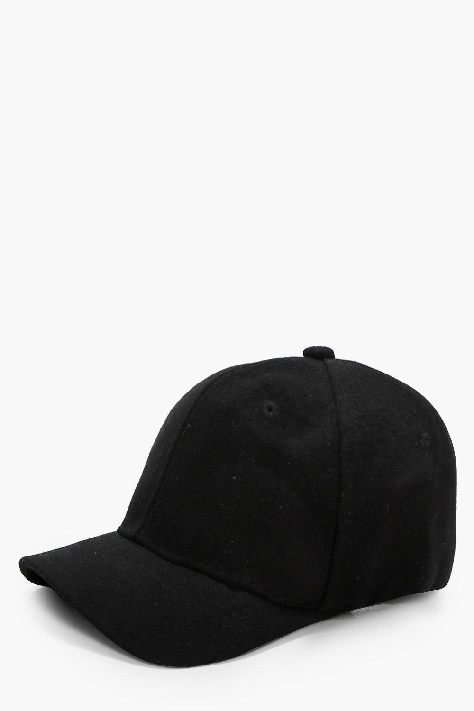 Felt Baseball Cap - black - Lois Felt Baseball Cap