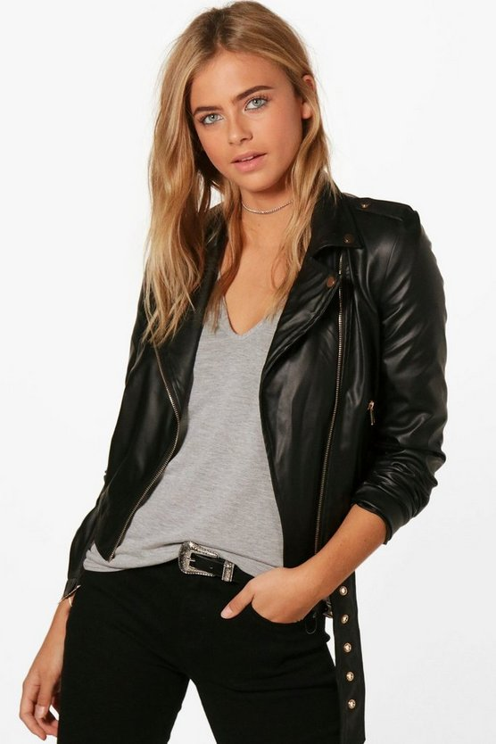 Jennifer Faux Leather Vegan Biker