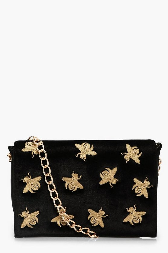 Yasmin Bug Embroidery Cross Body Bag