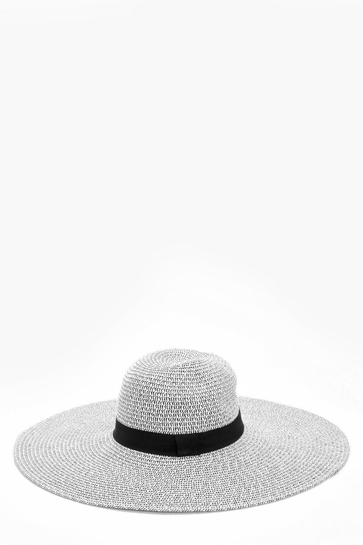 Mono Straw Floppy Hat - black - Scarlett Mono Stra