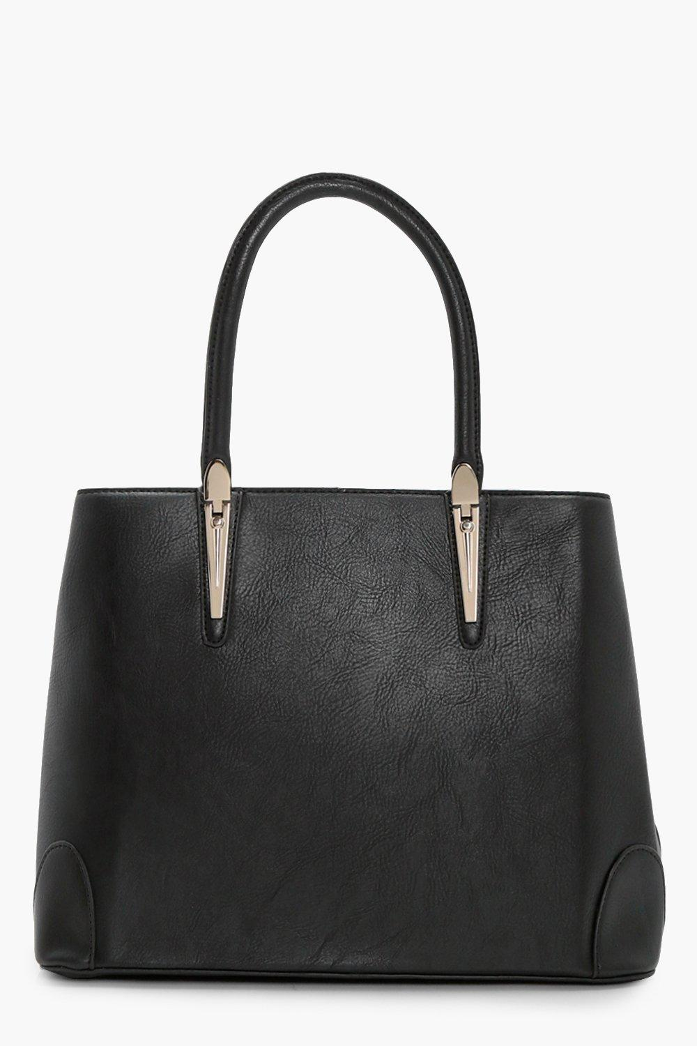 Metal Bar Tote - black - Ella Metal Bar Tote - bla