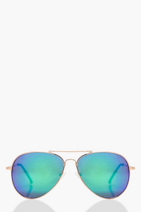 Lucy Blue Lens Aviator Sunglasses