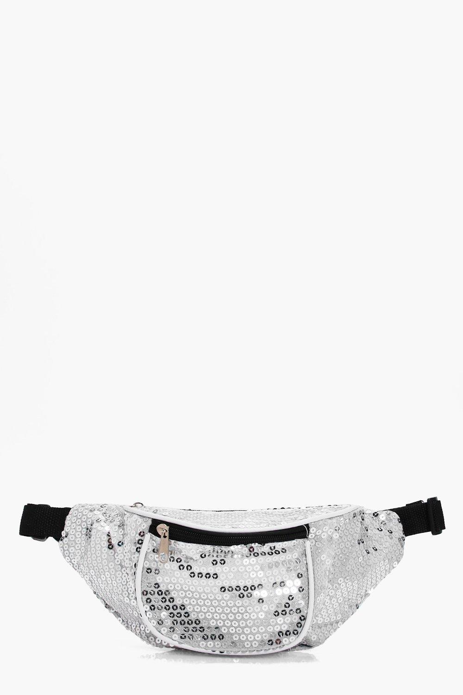 Sequin Bumbag - silver - Molly Sequin Bumbag - sil