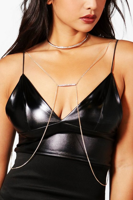 Tilly Shimmer Choker Body Chain