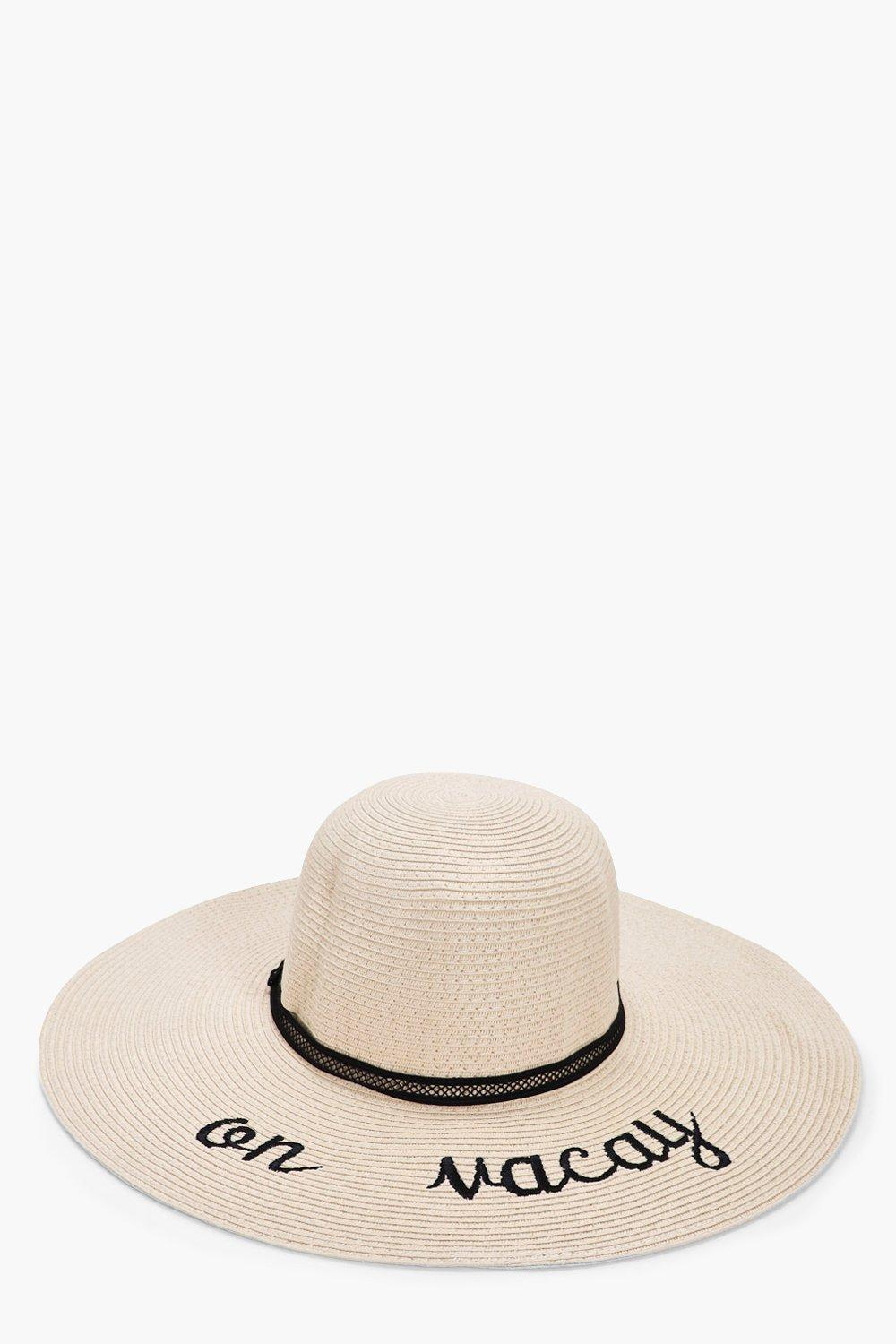 On Vacay Straw Floppy Hat - cream - Skye On Vacay