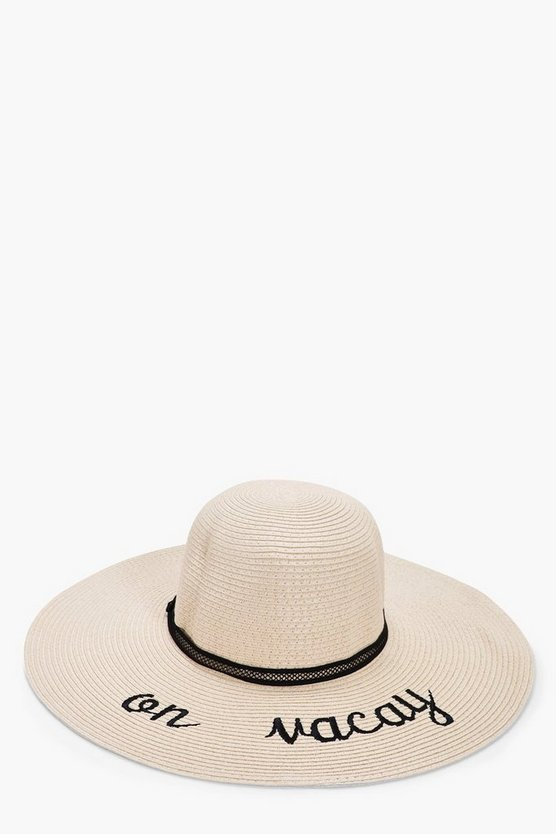 Skye On Vacay Straw Floppy Hat