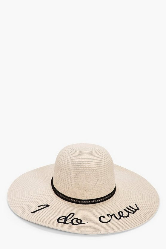 Amelia I Do Crew Straw Floppy Hat