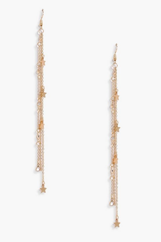 Georgina Diamante Star Tassel Earrings