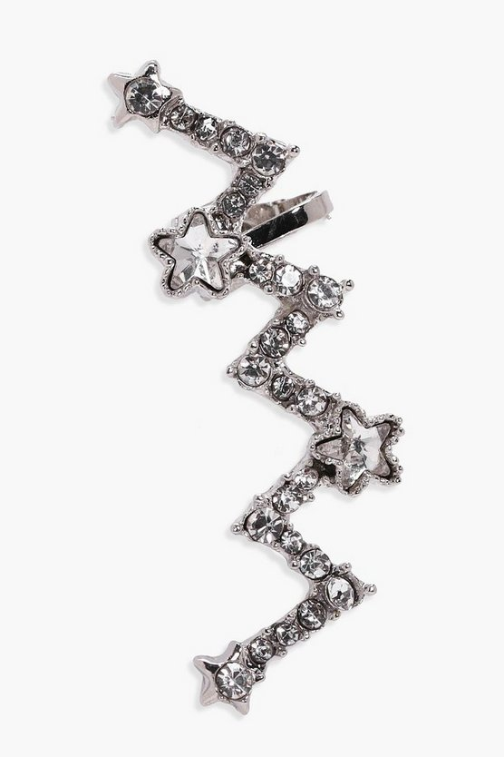Megan Star Diamante Zig Zag Ear Cuff