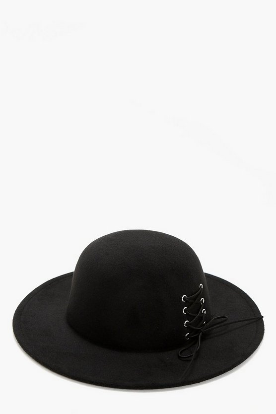 Erin Lace Up Corset Floppy Hat