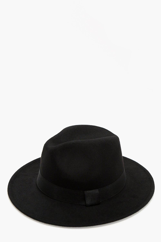 Bond Fedora Hat - black - Katie Bond Fedora Hat -
