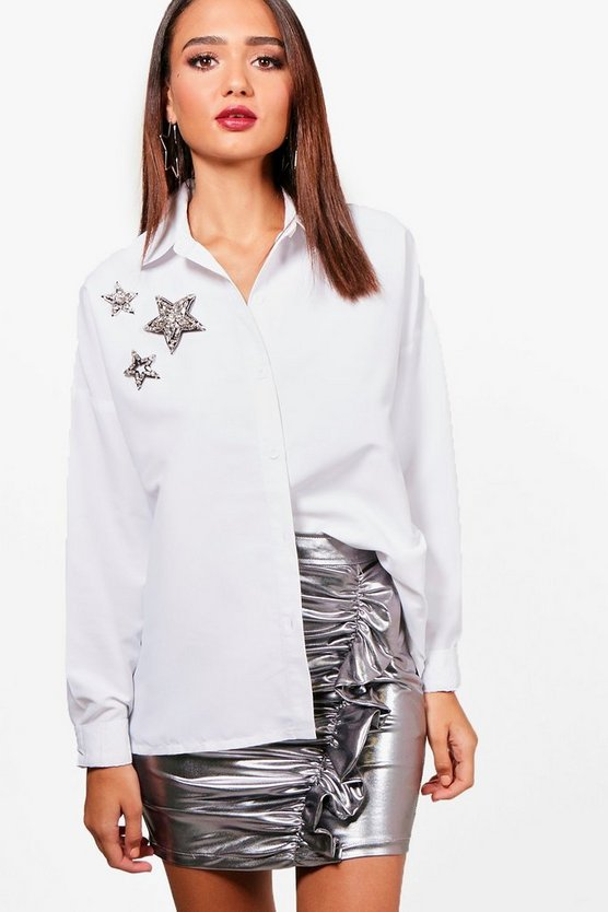 Georgina Star Sequin Embellished Shirt