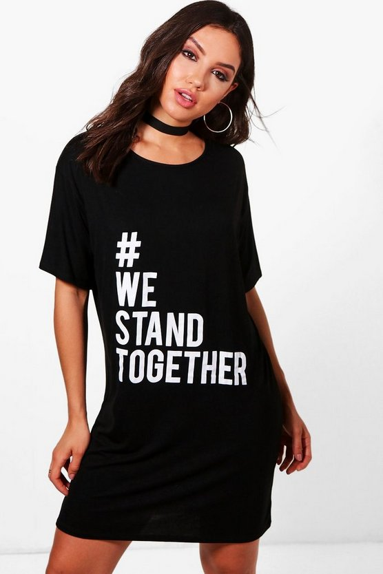 Charity #WeStandTogether Oversized T-Shirt Dress