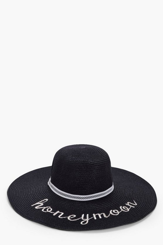 Megan Honeymoon Straw Floppy Hat