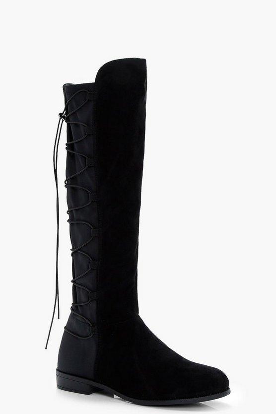 Cerys Flat Knee High Flat Riding Boots