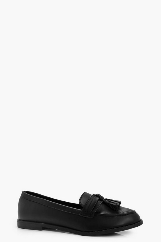 Lizzie Tassel Trim Loafers