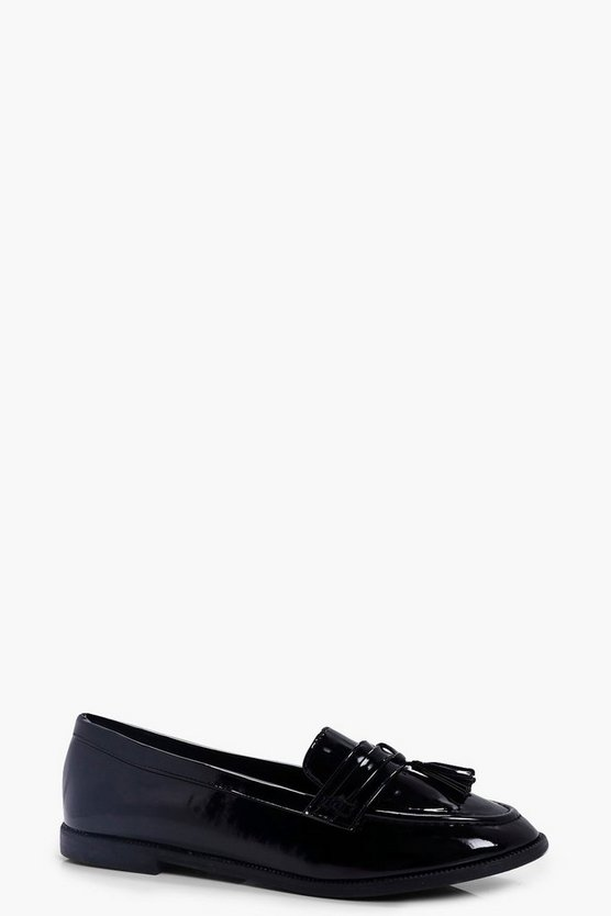 Lyla Tassel Trim Patent Loafer