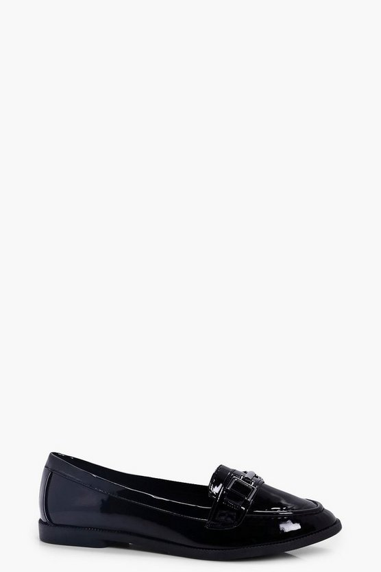 Edie Metal Trim Patent Loafer