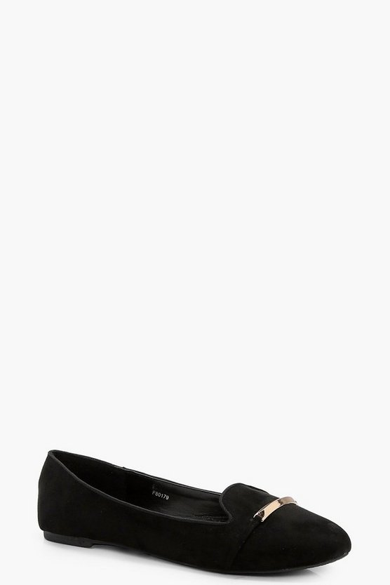 Annie Metal Trim Slipper Flat
