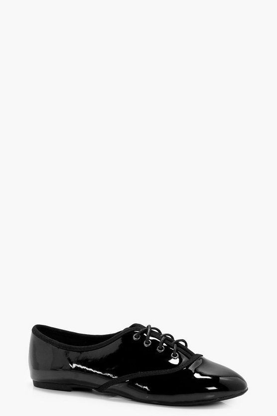 Faye Patent Lace Up Brogue