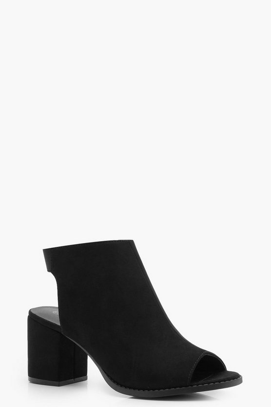Gabby Peeptoe Block Heel Shoe Boot