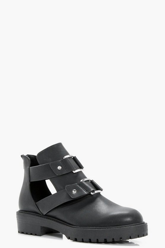 Amelia Cut Work Chunky Boot