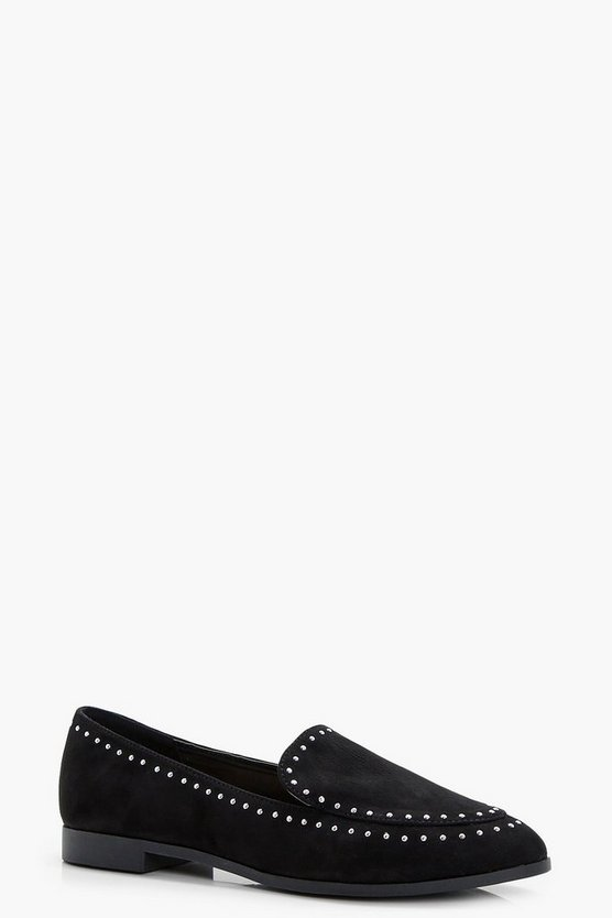 Louisa Stud And Tassel Trim Loafers