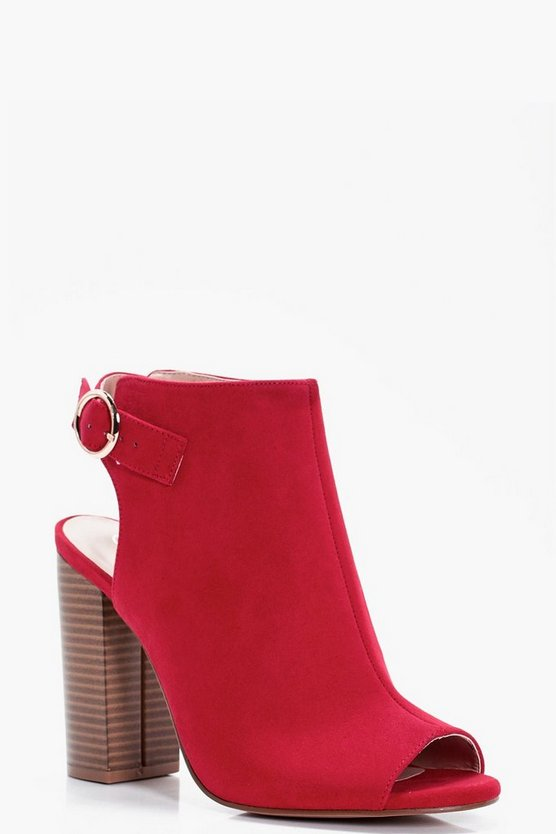 Paige Peeptoe Sling Back Shoe Boot