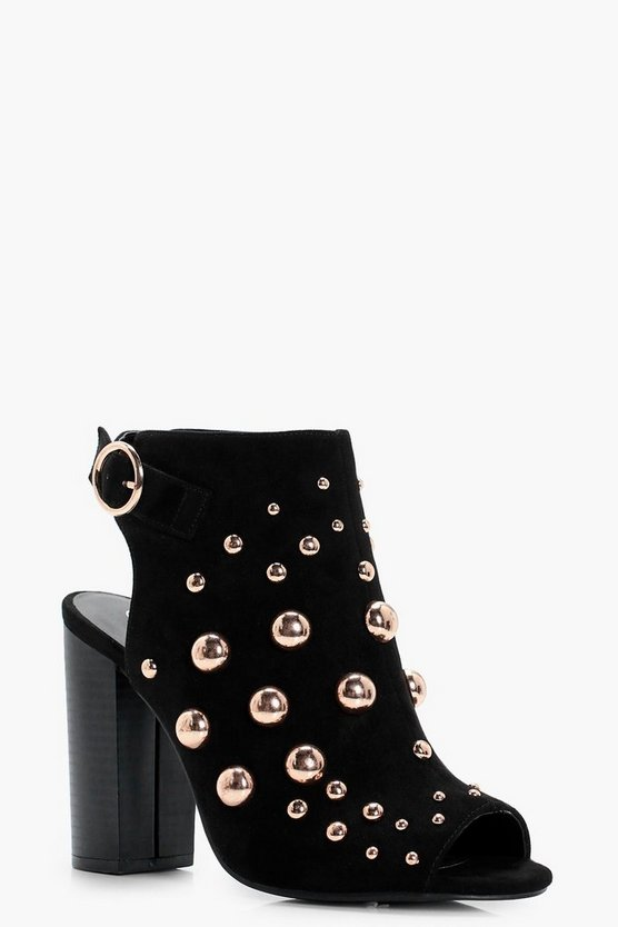 Ivy Oversized Stud Embellished Shoe Boot