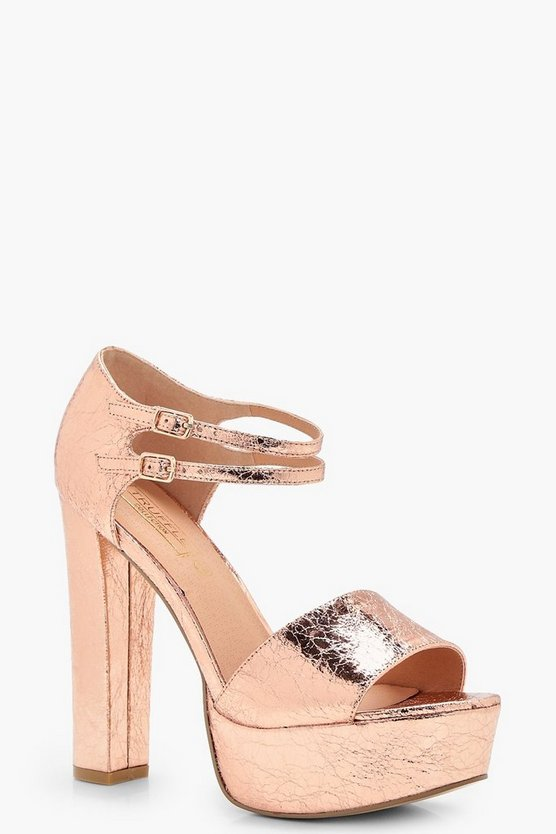 Gabriella Peeptoe Two Part Platform Heel