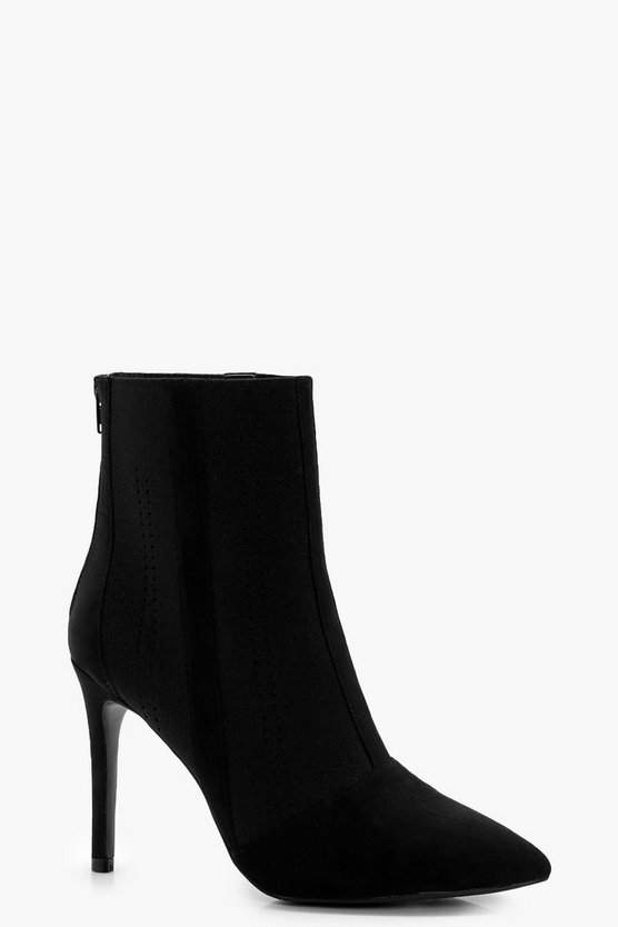 Frances Knitted Pointed Toe Sock Boot