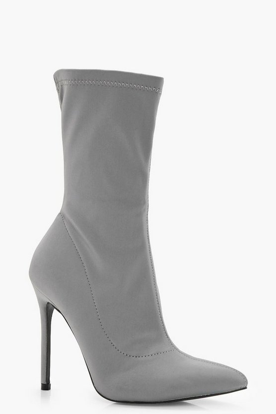 Nicole Stretch Over Ankle Sock Boots