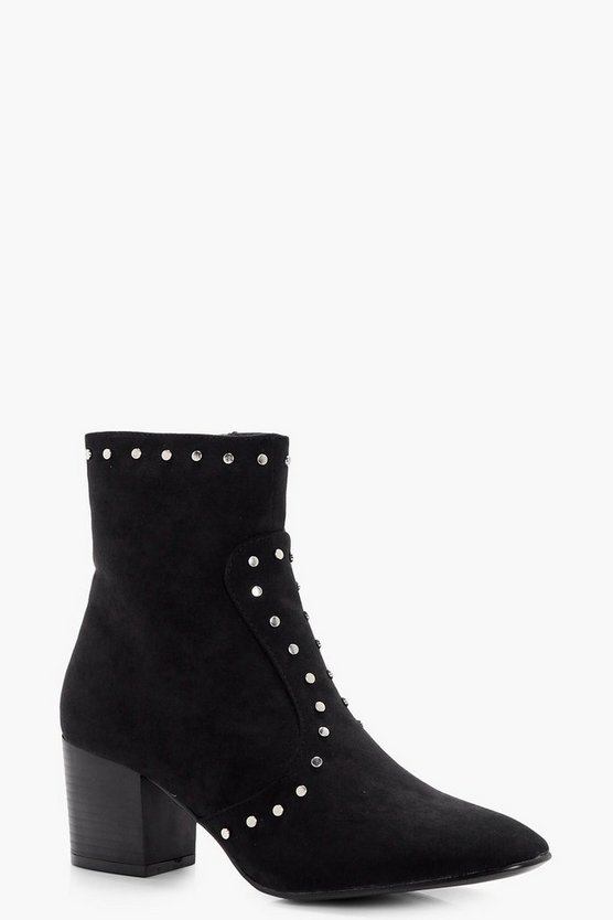 Esme Stud Detail Ankle Boot