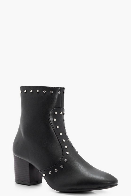 Harriet Stud Detail Sock Boots