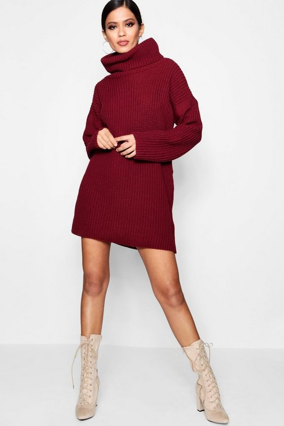 Evie Roll Neck Jumper Dress