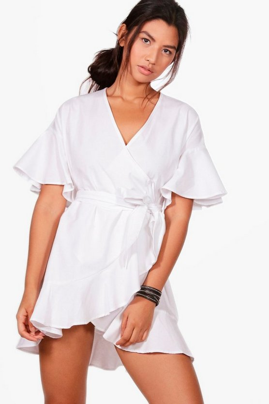 Amber Frill Detail Woven Wrap Dress