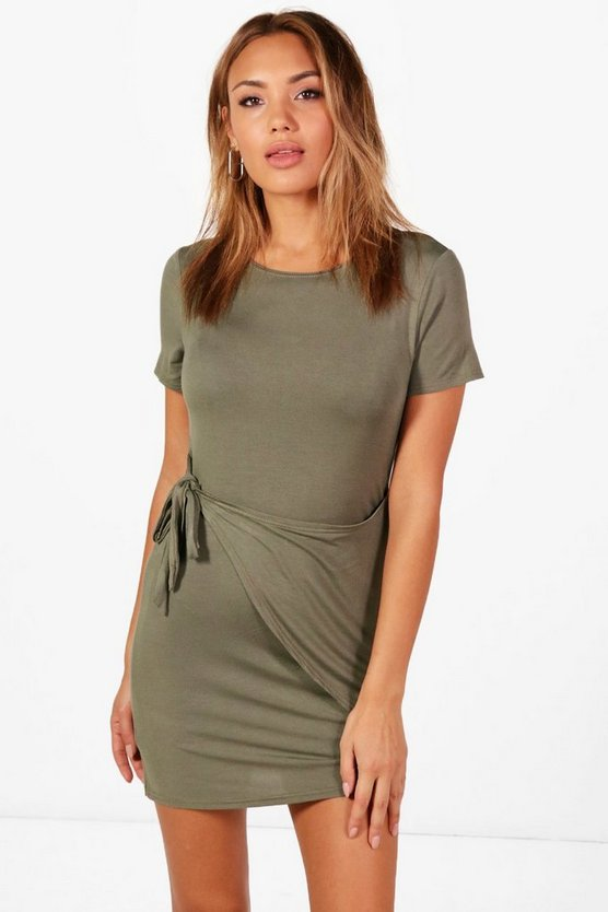 Eleanor Wrap Front Bodycon Dress