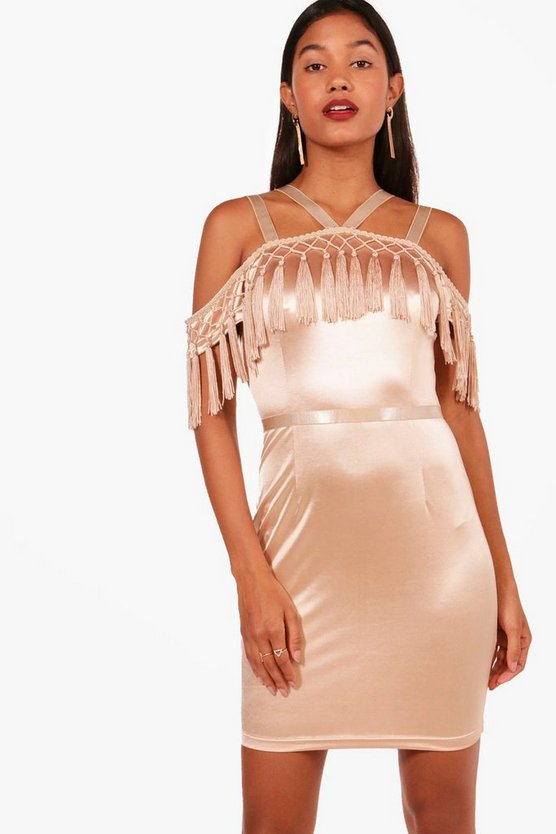 Boutique Hefe Tassel Bodycon Dress