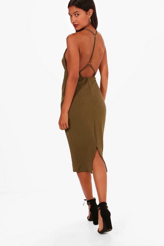 Mel Strappy Open Back Detail Midi Dress