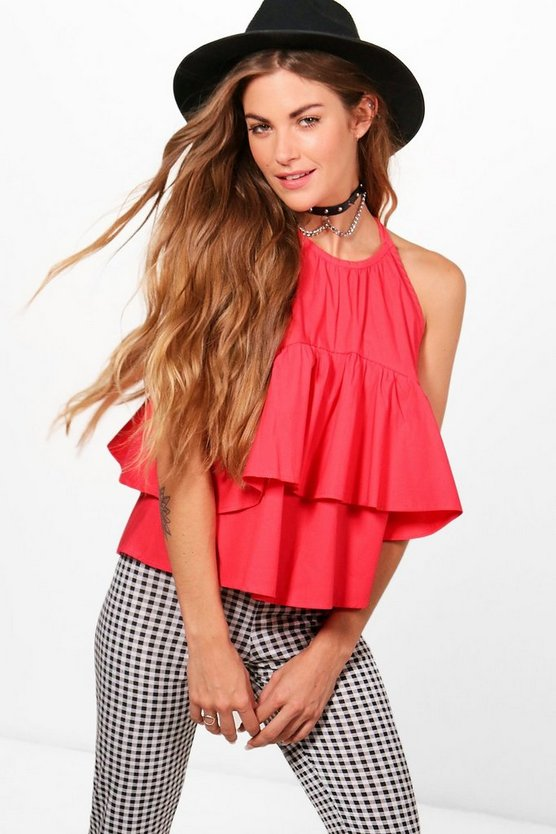 Avery Tiered Woven Cami