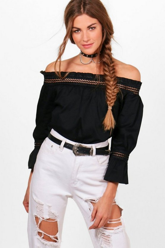 Lola Woven Off the Shoulder Top