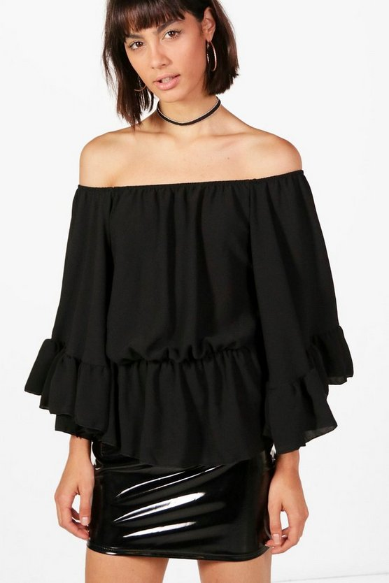 Holly Large Ruffle Off The Shoulder Top